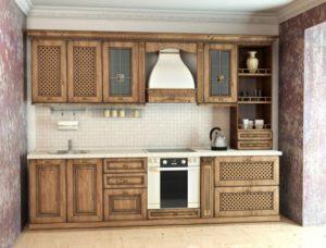 Кухня МДФ орех