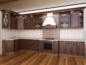 кухня МДФ темно-коричневая